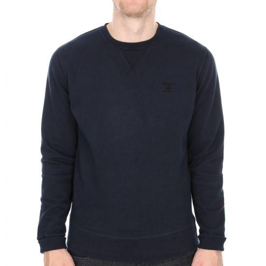 Barbour Standards Crew Sweater in Navy
