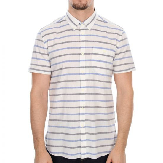 barbour director shirt in whisper white