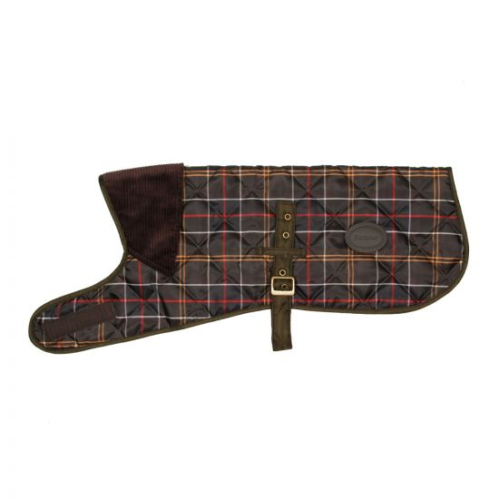 barbour dog coat tartan uac0062