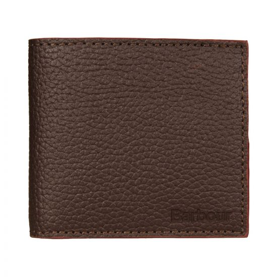 Barbour Wallet Dark Brown Grain Leather MAC177BR 711