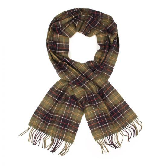 barbour scarf green classic tartan lambswool