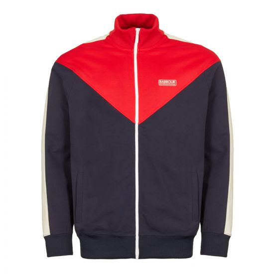 barbour international track top diode MOL0157 NY91 navy/red