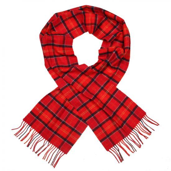 barbour scarf cardinal red tartan lambswool usc0001 tn121