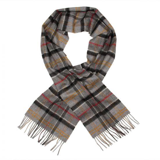 barbour scarf grey tartan merino cashmere usc0002 tn711