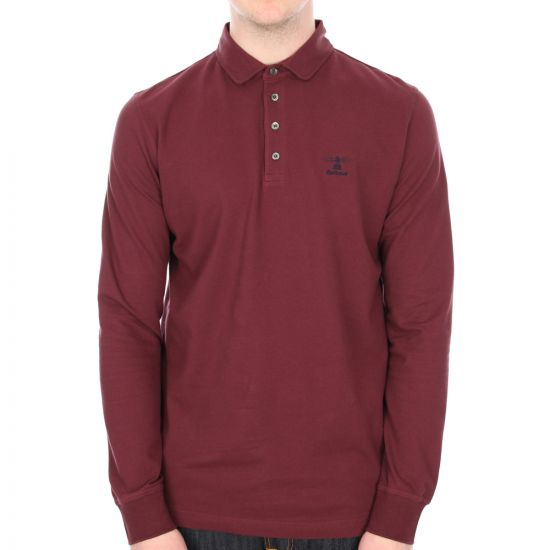 Barbour Standard Long Sleeved Polo in Merlot