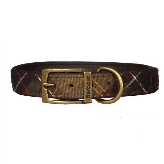 barbour dog collar UACO112TN11 green tartan