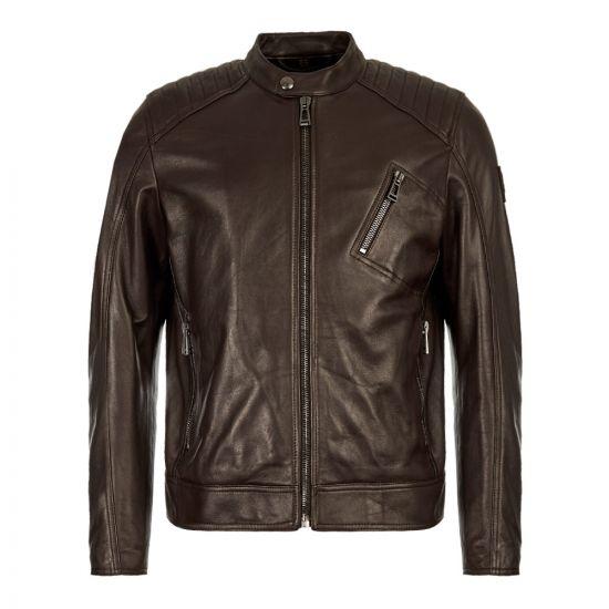 Belstaff Leather Jacket | 71020730 L81N0553 60018 Dark Brown