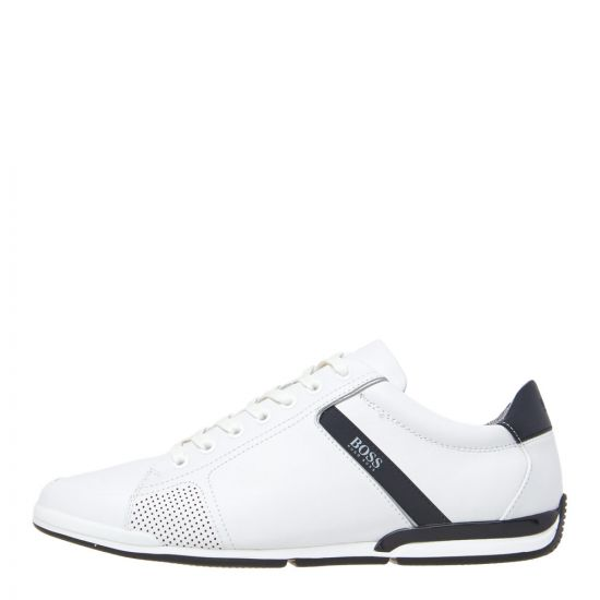 BOSS Saturn Lowp Lux Trainers 50401835 100 White