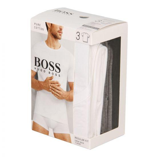Hugo Boss Black T-Shirt 3 Pack 50325388999 In Assorted