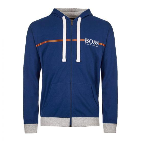 boss bodywear hoodie 50403135 438 blue