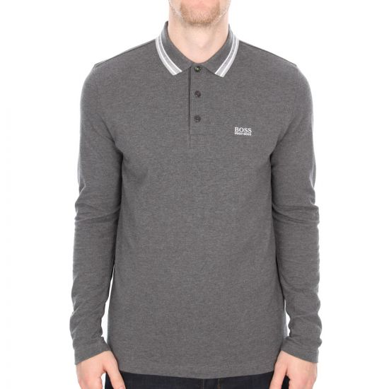 Long Sleeve Polo Plisy - Grey