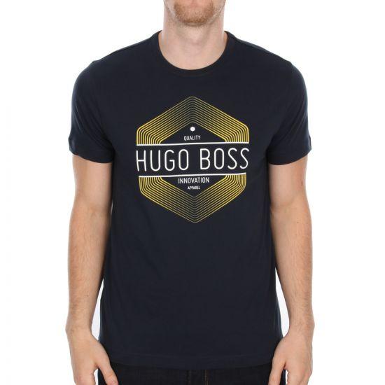 Hugo Boss Green Navy Tee 1