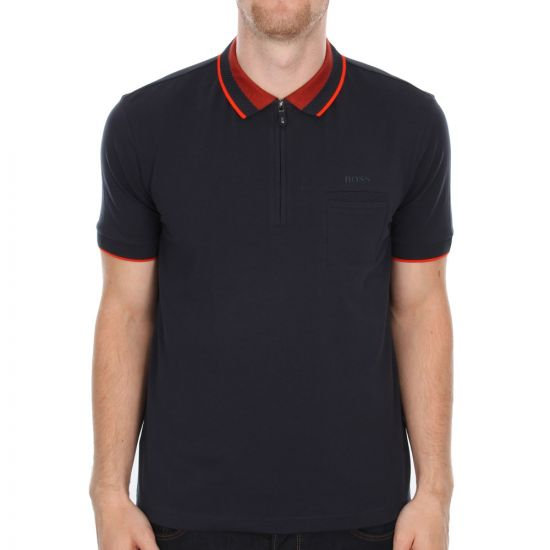 Hugo Boss Green Navy Philix Polo