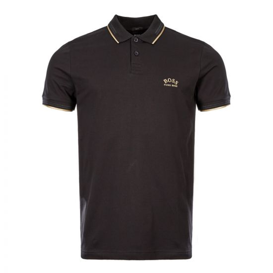Athleisure Polo Shirt – Black