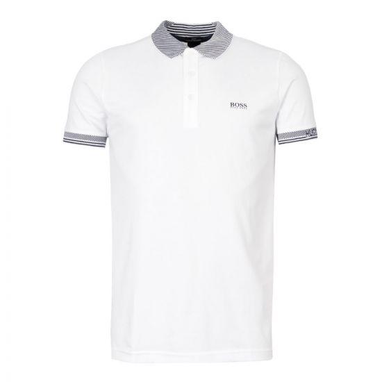 Athleisure Polo Shirt – White