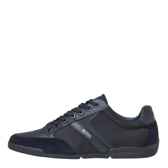 boss saturn lowp lux trainers 50407672 401 dark blue