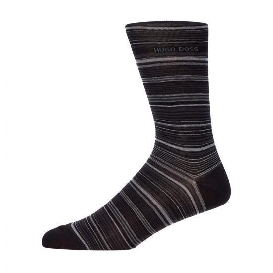 BOSS Socks Multi Stripe 50414697 001 Black