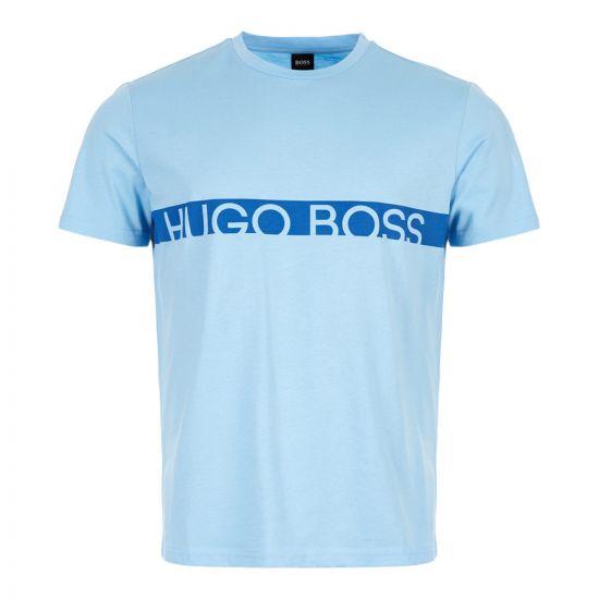 BOSS Beachwear T-Shirt 50407600 450 Light Blue