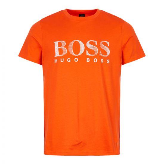 boss beachwear t-shirt 50407774 620 orange