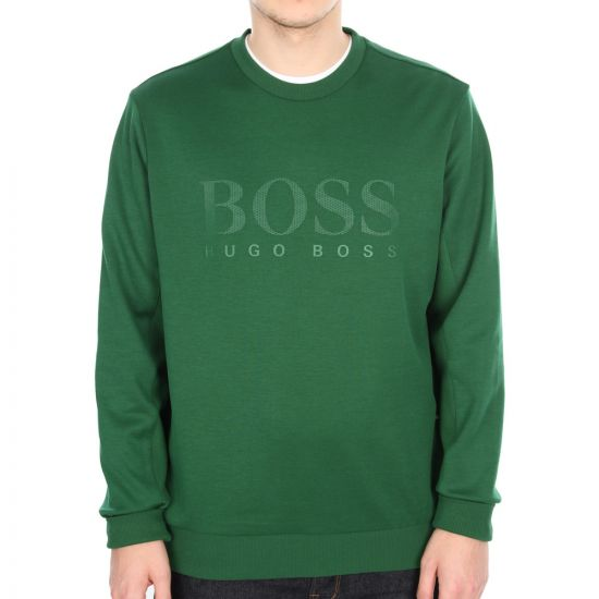 Hugo Boss Green Salbo Sweatshirt in Green