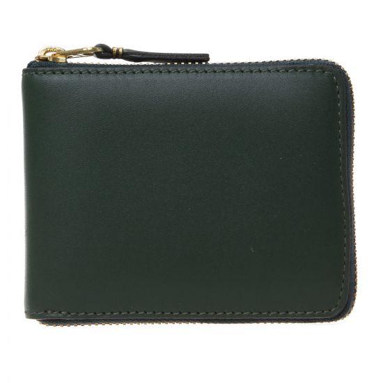 Comme des Garçons Classic Zip Wallet SA7100GRN Bottle Green