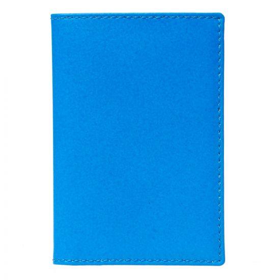 Comme des Garçons Super Fluo Card Wallet SA6400SF BLU Blue