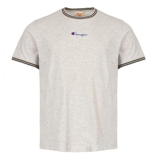Champion T-Shirt Striped Ringer 213034 EM004 LOXM Grey