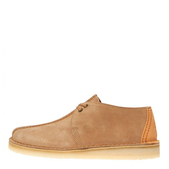 Clarks Originals Desert Trek Shoes 26139209 Light Tan Suede
