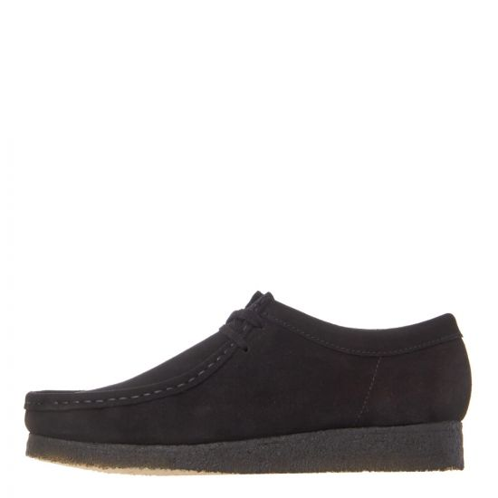 Clarks Originals Wallabee Shoes 26133279 Black Suede