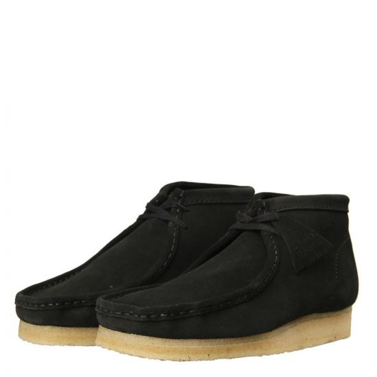 Clarks Wallabee Boots Black Suede