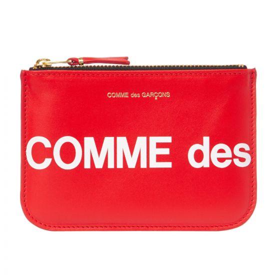 Comme des Garcons Wallet Logo   SA8100HL RED