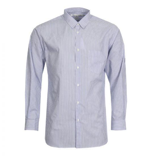 Comme des Garçons SHIRT Fine Stripe Shirt | CDGS2STA 70 Blue