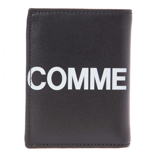 Comme des Garcons Wallet Logo   SA0641HL BLACK