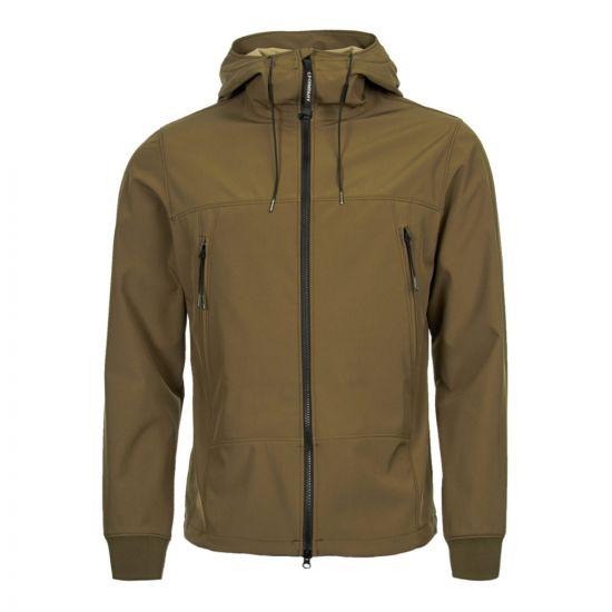 cp company soft shell goggle jacket CMOW12A 005159A 672 beech