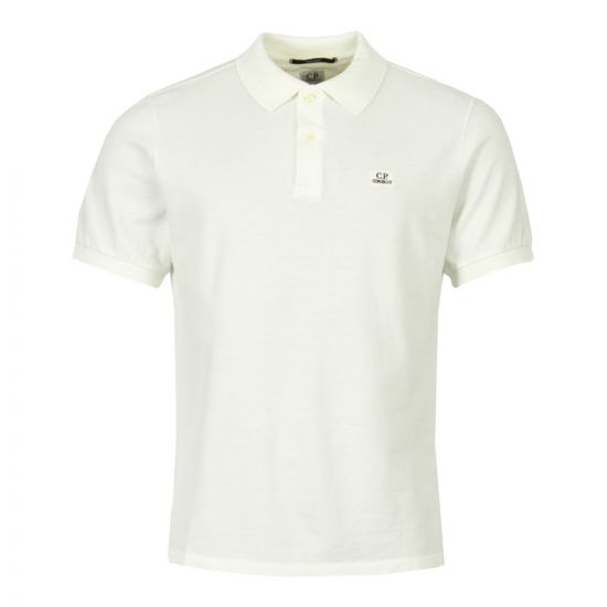 CP Company Polo Shirt CMPL053A 001672G 103 Off White