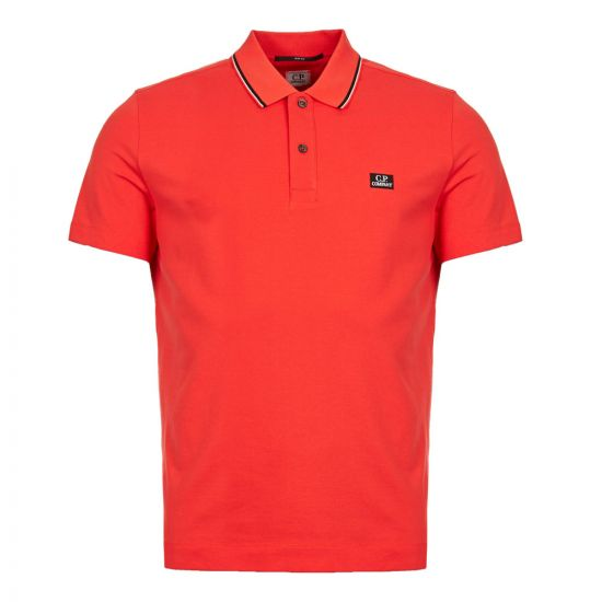 cp company polo shirt CMPL041A 005263W 547 red