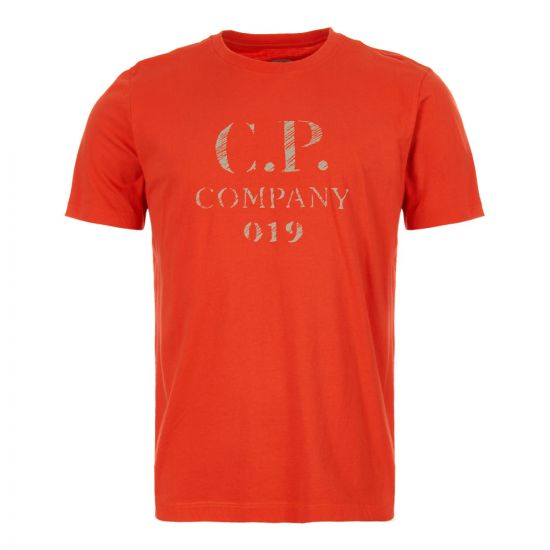 CP Company T-Shirt MTS0158A 005100W 547 High Risk Red
