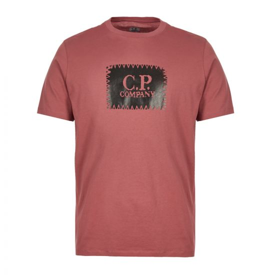 CP Company T-Shirt Printed Label MTS099A 005100W 583 Dusty Pink