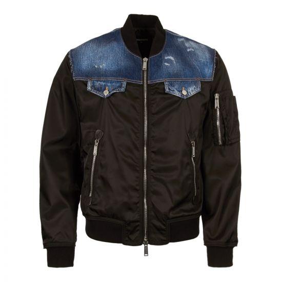 dsquared bomber jacket S74AM0869 S49576 900 black