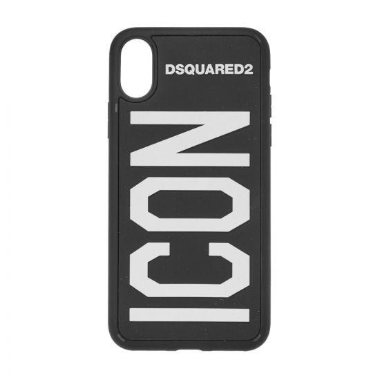 DSquared2 iPhone X Icon Case ITM005135 802197 M063 Black / White