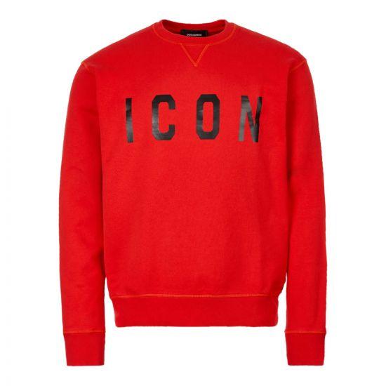 Dsquared Sweatshirt Icon S74GU0352 S25042 970 Red
