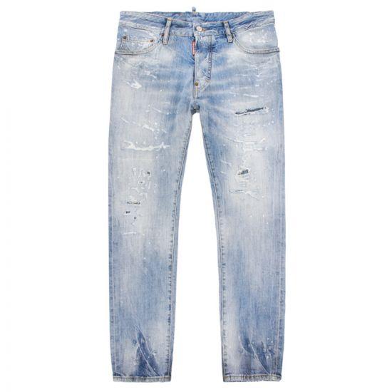 DSquared Cigarette Jeans S71LB0579 S30309 470 Washed Denim