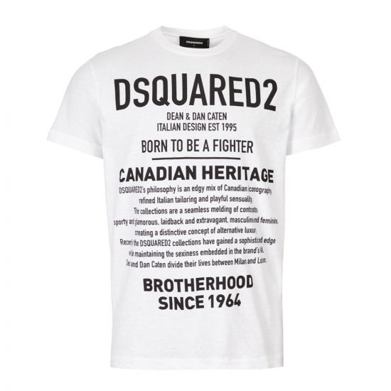 DSquared T-Shirt S74GD0594 S22507 100 White