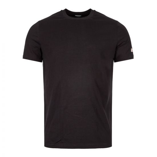 DSqaured Crew Neck T-Shirt D9M202420|001 In Black At Aphrodite Clothing