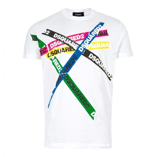 DSquared T-Shirt |S47GD0548|S22427 100 In White