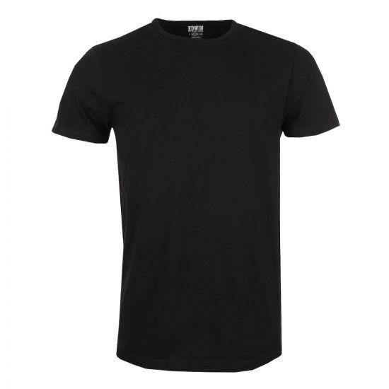 edwin double pack t-shirt I018344 black