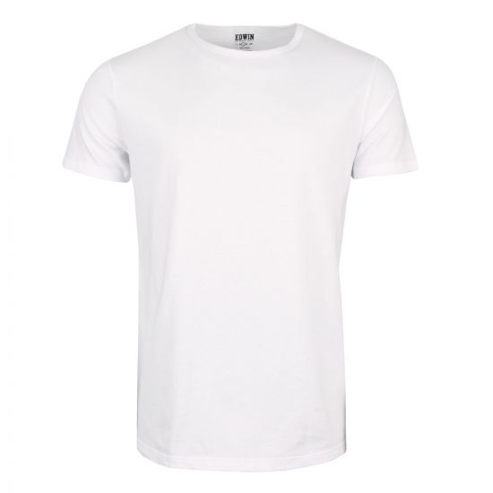 edwin double pack t-shirt I018344 white