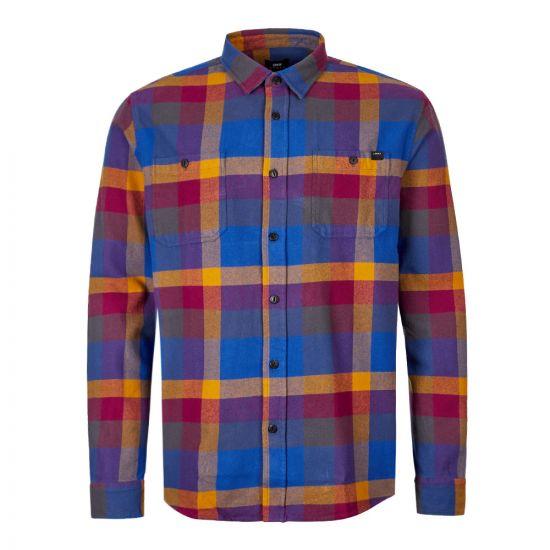 Edwin Labour Shirt IO27375 DPG 67 03 Purple / Gold