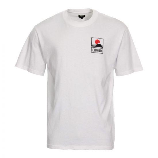 Edwin Sunset Mt. Fuji T-Shirt I025881 02 67 03 White