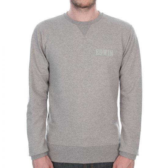 edwin sweatshirt grey logo  i020373